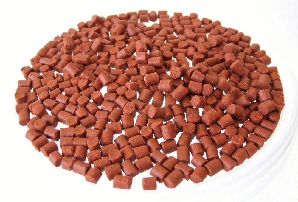 1.500kg 6mm CARRY BUCKET SHRIMP & KRILL SINKING FEEDER PELLETS, CARP , BARB