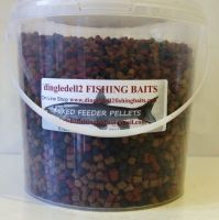 1.500 carry bucket 6mm Triple Mix Sinking Feeder Pellets Shrimp & krill Dark Trout,Coarse Pellets,