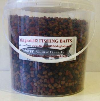 1.500 carry bucket 6mm Triple Mix Sinking Feeder Pellets Shrimp & krill Dark Trout,Coarse Pellets,