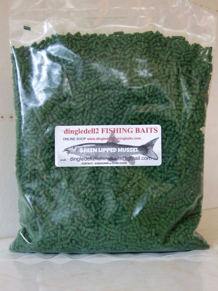 .900 gram Sealed Pack Green Lipped Mussel 3mm Sinking Feeder Pellets