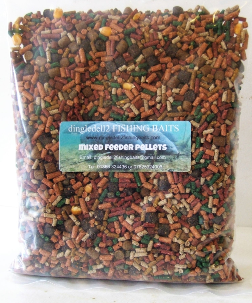 1.500kg Sealed Pack Favourite Mix Sinking Feeder Pellets, Verious Sizes. Fi