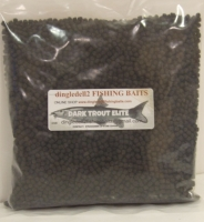 900 gram  Sealed Pack Skrettings 4mm Dark Trout Elite Sinking Feeder Pellets