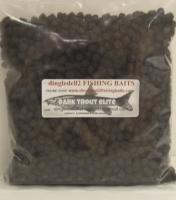 900 gram Sealed Pack 8mm Dark Trout Elite Feeder Pellets,