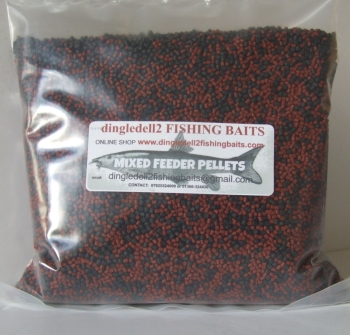 900 gram 2.3mm Sealed Pack  Mixed Shrimp & Krill & Dark Trout Elite Sinking Feeder Pellets
