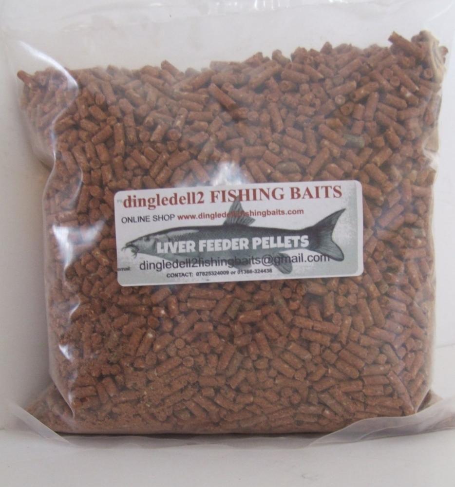 1kg 3mm Sealed Pack Liver Sinking Feeder Pellets,