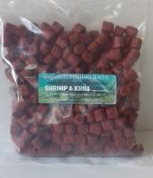 900 gram Sealed Pack 14mm Shrimp & Krill Pre-Drilled Hook Pellets