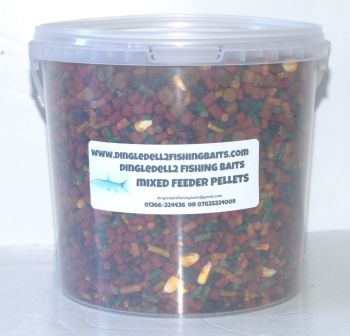 1.500kg Carry Bucket MULTIMIX Sinking Feeder Pellets, Fishing baits