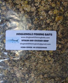 5kg Sealed pack Vitalin & Crushed Hemp with meat Particles, Ground Bait, Method,