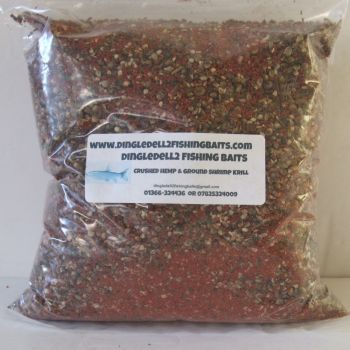 1.5kg Sealed Pack Crushed Hemp & Ground Shrimp & Krill, Ground baits,Carp barbel,