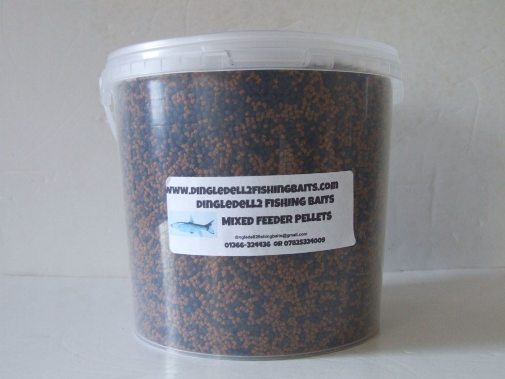 1.500kg Carry Bucket Micro Dark Trout Elite & Coarse Sinking Feeder Pellets