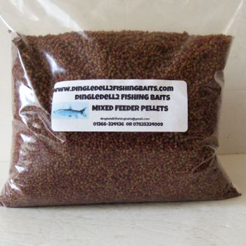 900 gram Sealed Pack 50/50 Mix Micro Sinking Feeder Pellets Shrimp & Krill & Carp Coarse,