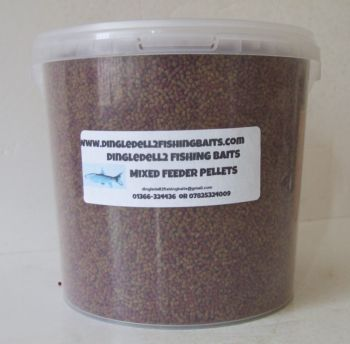 1.500kg Carry Bucket Micro Sinking Feeder Pellets, Shrimp & Krill & Carp Coarse Pellets, Fishing Baits