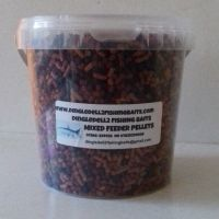 1.5kg Carry Bucket Shrimp & Krill,Dark Trout Elite,Liver Sinking Feeder Pellets, Carp Barbel Baits,