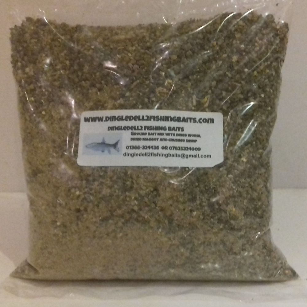 1.500 kg Sealed Pack ground bait mix with Dried Earthworm, Dried Maggot and