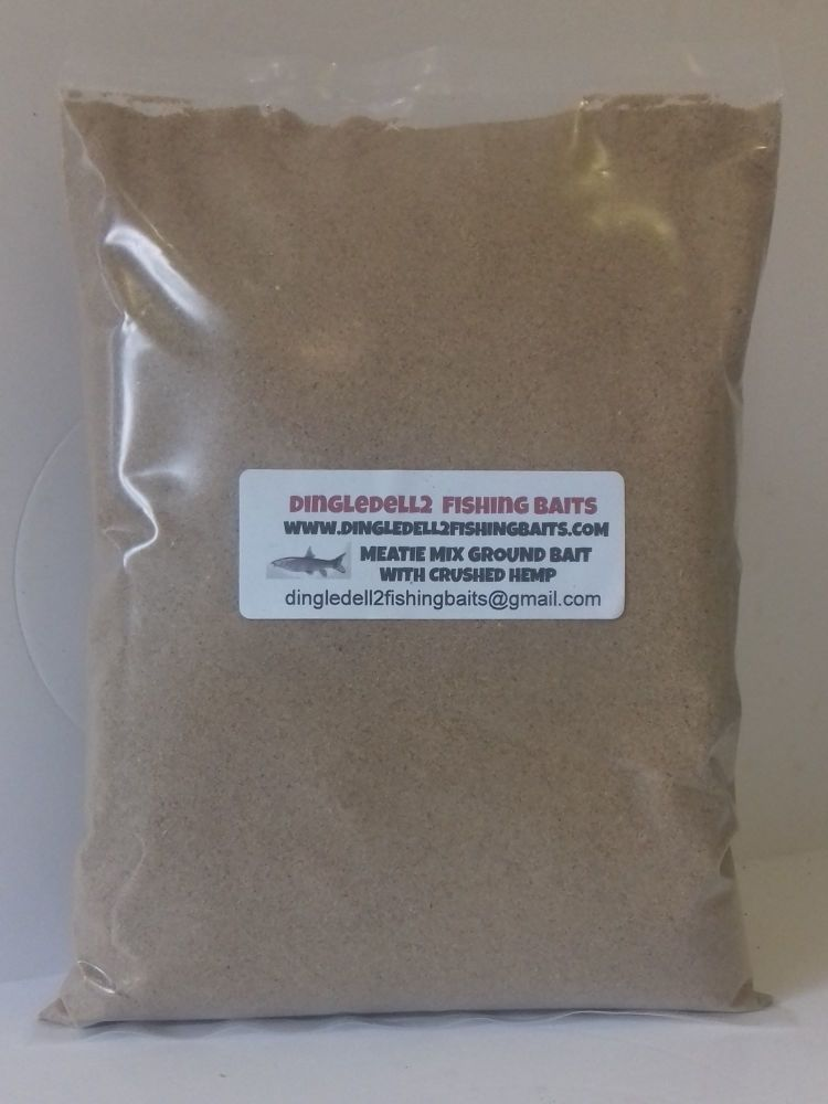 Ground Bait mix , with Finely Ground Meat and Crushed hemp 1.500kg Packs, C