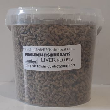 1.500kg Carry Bucket 3mm Liver Sinking Feeder Pellets, Fishing Baits