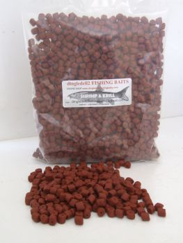 1.500kg Sealed pack 6mm Shrimp & Krill Sinking Feeder Pellets