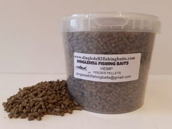 1.5OOkg Carry Bucket  4mm  Hemp Sinking Feeder Pellets
