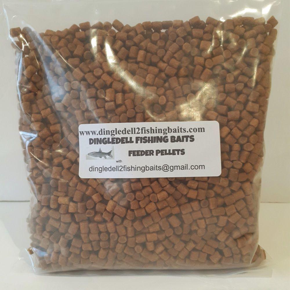 1kg Sealed Pack 6mm Carp Coarse Sinking Feeder pellets