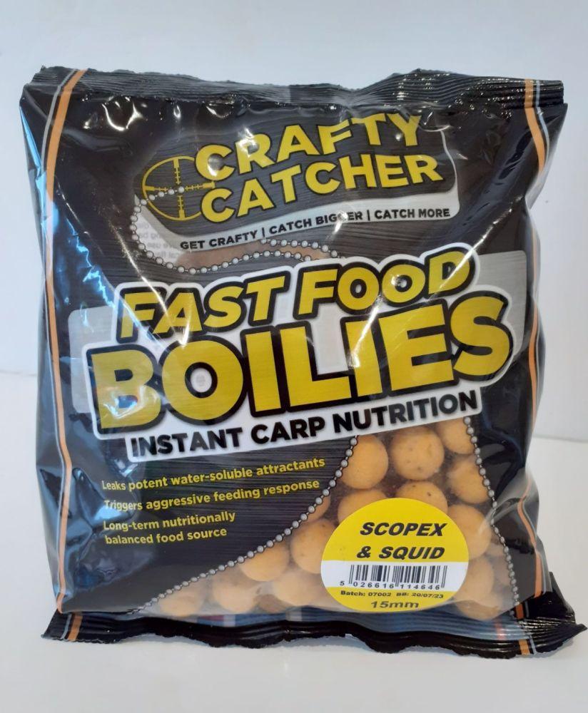 500gram Scopex and Squid Carp Boilies, Fishing Bait
