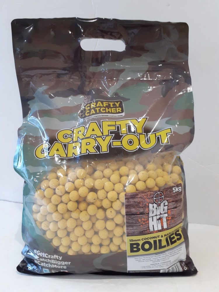 5kg 15mm Big Hit COCONUT & MAPLE  Carp Boilies