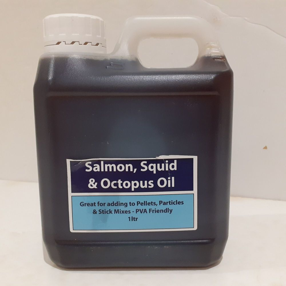 1ltr Carry Container Salmon Squid & Octopus . Flavoured Oil