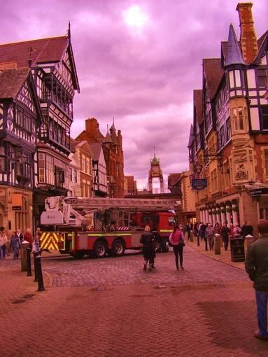chester shops street scene