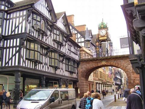Chester Clock and Bridge