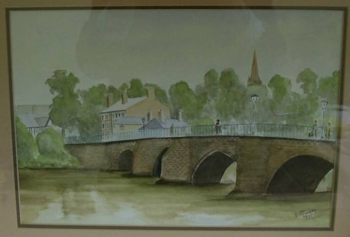 Handbridge Bridge Watercolou