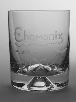 Chamonix Mont Blanc Dimple Base Whisky Tumbler