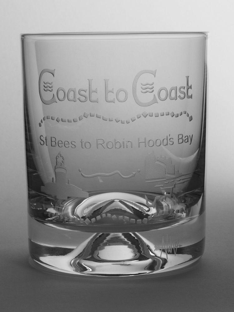 Coast to Coast Dimple Base Whisky Tumbler