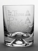 The UKs Three Peaks Challenge Dimple Base Whisky Tumbler