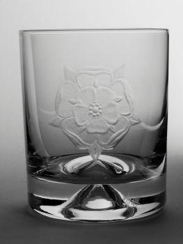 Tudor Rose Dimple Base Whisky Tumbler