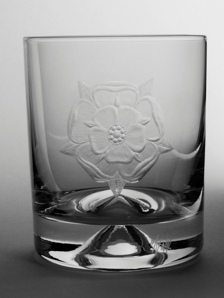 Tudor Rose Dimple Base Whisky Tumbler