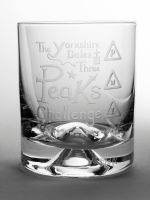 Yorkshire Dales Three Peaks Challenge Dimple Base Whisky Tumbler