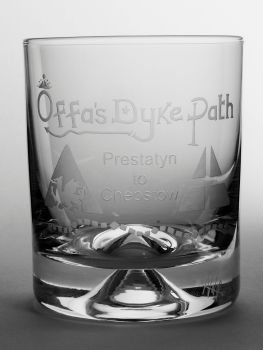 Offa's Dyke Path Dimple Base Whisky Tumbler