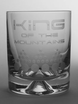 King of the Mountains Dimple Base Whisky Tumbler