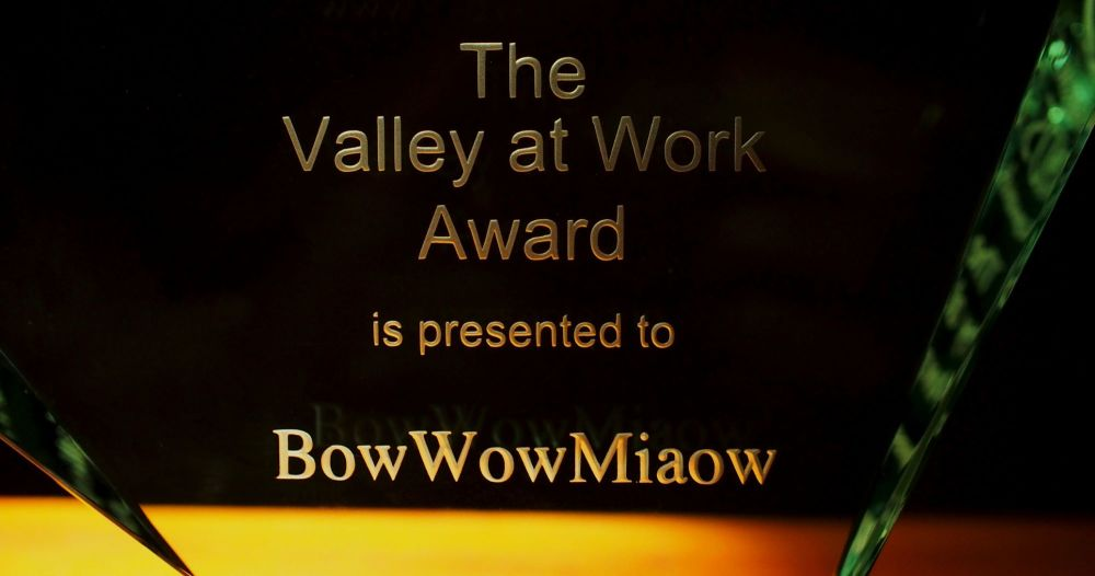 VALLEY AT WORK AWARD PRESENTED TO BOWOWMIAOW