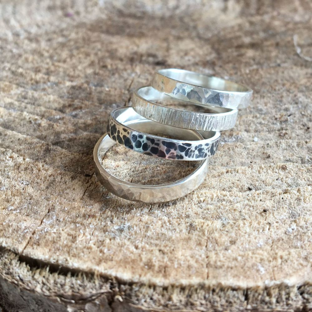 For Jess - 4 x Sterling Silver Stack Rings