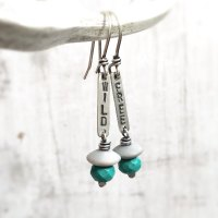 Wild and Free Sterling Silver Mismatched Earrings with Turquoise and Jasper