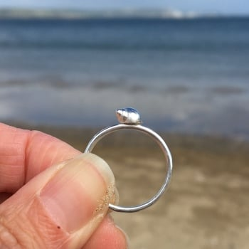 Sterling Silver Seashell Stacking Ring