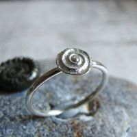 Silver Ammonite Stacking Ring