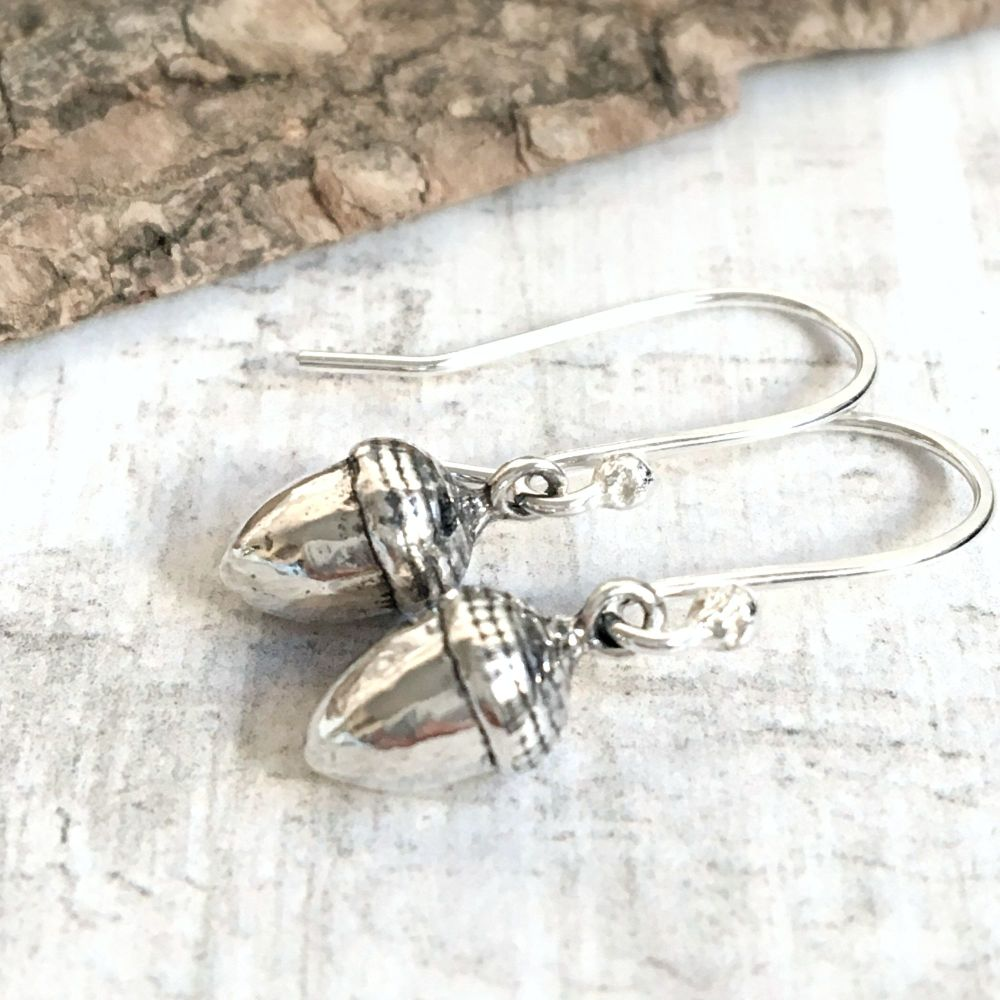 Sterling Silver Little Acorns Earrings