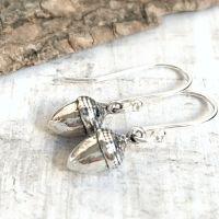 Miniature Sterling Silver Little Acorns Earrings