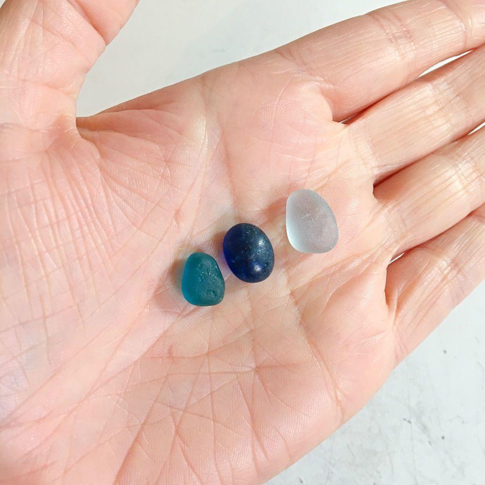 Custom Order for Christina - deposit for 3 x sea glass pendants