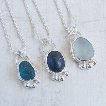 Custom Order for Christina - balance for 3 x sea glass pendants