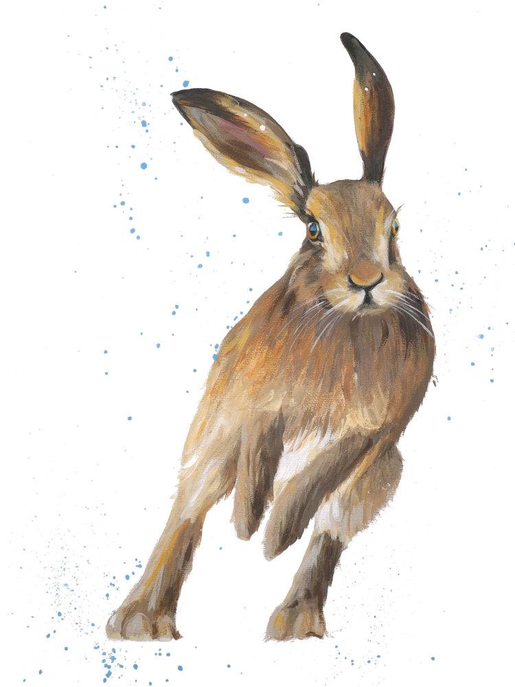 Derek- Hare Print