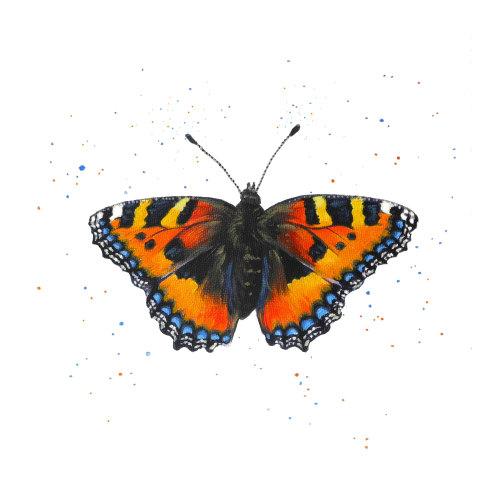 Tortoiseshell Butterfly Card