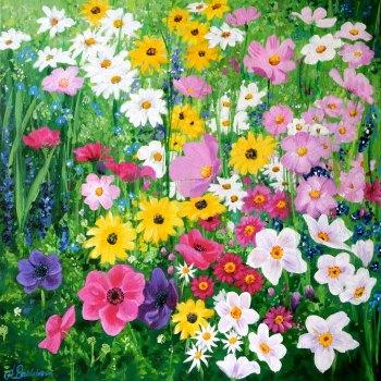 Flowerscape No. 6 Card