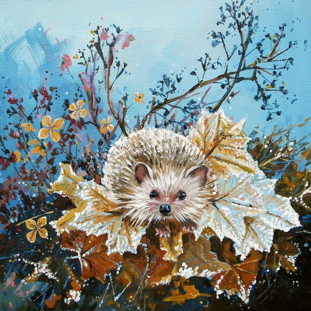 Winter Hedgehog Card